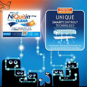 Niquitin in store display / POS Design